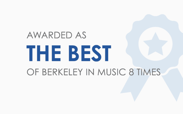 Awarded as the Best of Berkeley in music 8 times